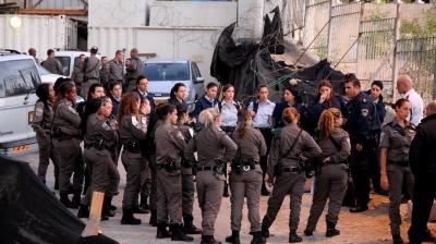 משטרת ירושלים בכוחות מתוגברים