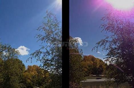 איכות התמונה באייפון 5, לצד איכות התמונה באייפון 4S (צילום מסך)