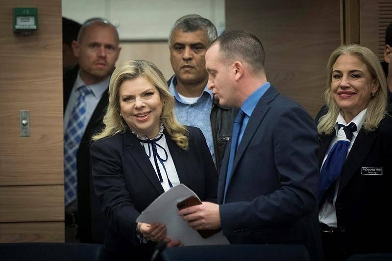 רעיית ראש הממשלה מגיעה לכנס היסוד של השדולה (צילום: יונתן זינדל, פלאש 90)