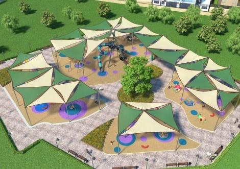 הפארק המדובר (צילום: עיריית קרית ים, הדמיה - חברת 'אלו את ניצן')