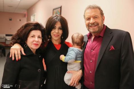 דודו פישר וזוגתו עם הפילנטרופית ססיליה מרגוליס | צילום: חיים טוויטו