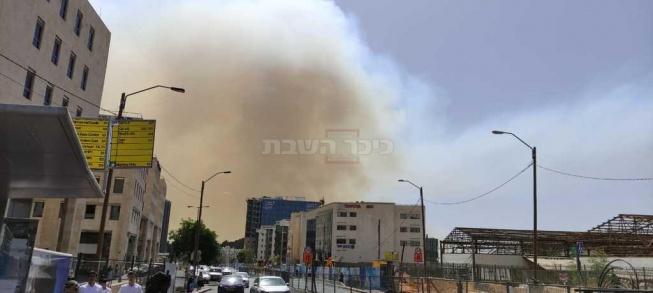 ענן העשן מגיע לירושלים