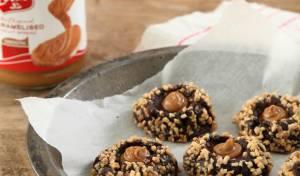 עוגיות טביעת אצבע במלית ממרח לוטוס.