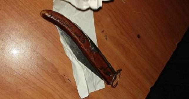 הסכין שנתפסה הערב