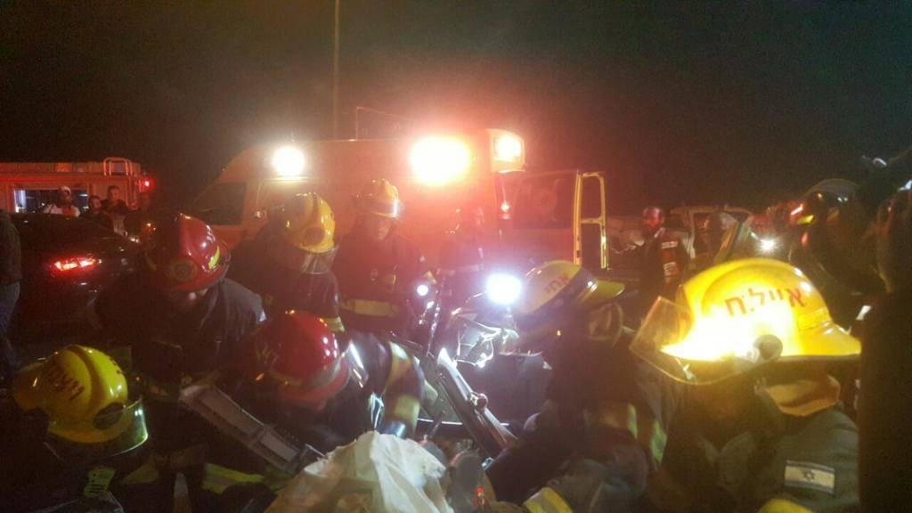 זירת התאונה (צילום: כב''ה)