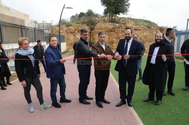 """קרית יערים חנכה פארק חדש במעמד יו""""ר קק""""ל"""