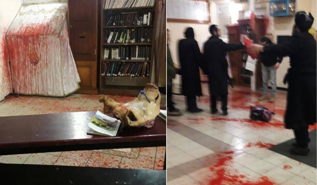 המתקפה האנטישמית בציון (צילום: חסידי ברסלב - אומן)
