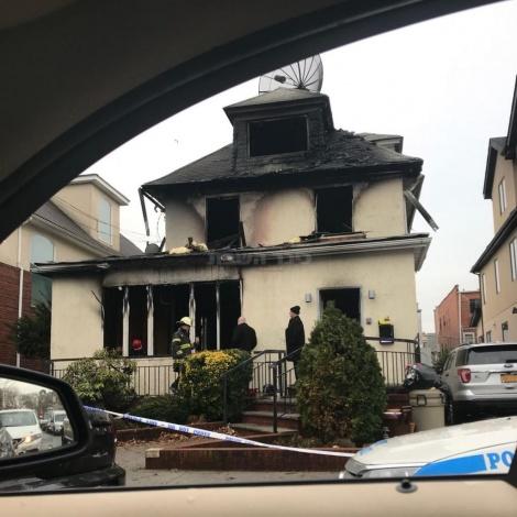 הבית לאחר השריפה, הבוקר (באדיבות המצלם)