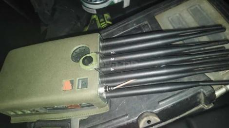 מכשיר לשיבוש תדרים (צילום: דוברות המשטרה)