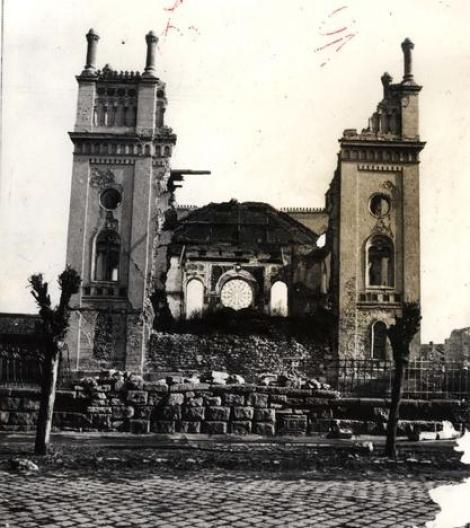 בית הכנסת בעיר באלאשאג'ארמאט Hungary ,Balassagy-armat, הריסות בית כנסת. 2
