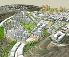(הדמיה: פרחי צפריר אדריכלים) - חמישים שנה אחרי האיחוד: ירושלים גדלה משמעותית