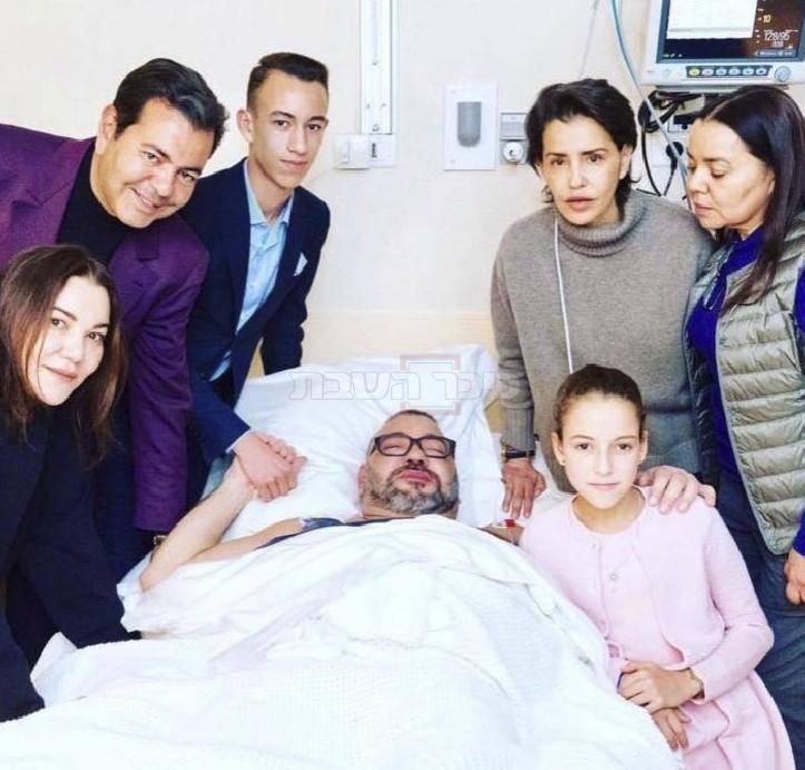 המלך מוחמד מחלים בבית החולים