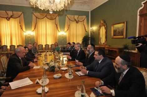 פגישת המשלחת עם נשיא סלובקיה