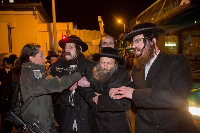 הפגנה נגד מעצר עריק בירושלים (צילום: פלאש 90)