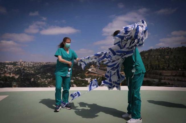 מעל בתי החולים בירושלים (צילום: חיים גולדברג, כיכר השבת)