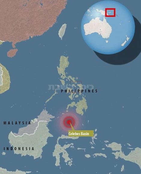 מיקום רעידת האדמה על פי המכון הגיאולוגי האמריקאי