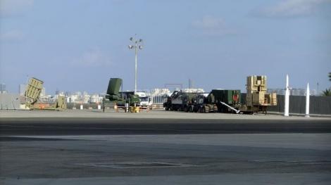 """טילי מערכות ההגנה של ישראל שייוצגו לנשיא, ערוכים בנתב""""ג"""