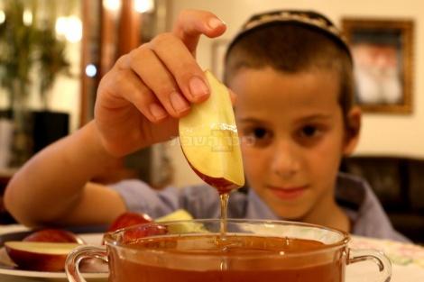 מדגימים הטבלת התפוח בדבש