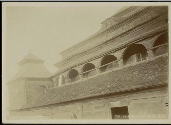 צילום עזרת הנשים וגג בית הכנסת (צילום: ארכיון שמואל אברהם פוזננסקי, הספרייה הלאומית)