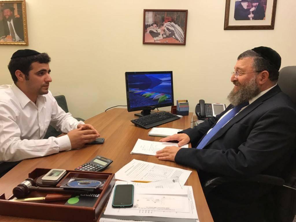 יו''ר סיעת ש''ס יואב בן צור בראיון לכתב ''כיכר השבת'' ישי כהן
