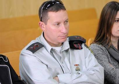 סא''ל בורברג בבית המשפט (צילום: עופר עמרם)