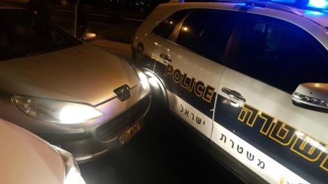 הרכב שנעצר (צילום: דוברות המשטרה)
