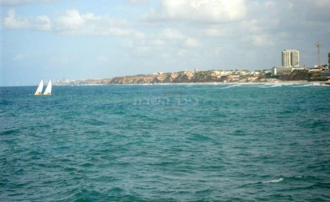 חוף השרון מבט מהמרינה בהרצליה