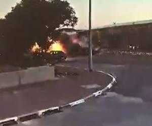אש בדרום: וידאו: פגיעה ישירה במפעל בעיר שדרות