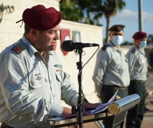 """נאום אמונה: מפקד """"עוצבת האש"""" עופר וינטר בנאומו: """"השם תן בי ענווה וגבורה"""""""