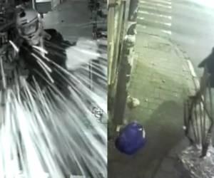 ביריון בחליפה שחורה: התיעוד שוחזר: כך הושחתה חנות האינטרנט במאה שערים