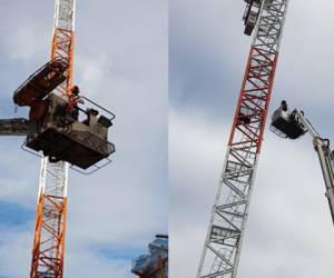 על מנוף: דרמה בהרצליה: החייאה וחילוץ בגובה של 40 מטרים • צפו