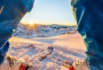 תיעוד דרמטי ברגע האחרון כך ניצל גולש סקי מנוסה ממפולת שלגים