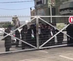 """במהלך הפגנה: הקיצוני מקלל: """"הלוואי שתהיו כולכם חולים"""""""
