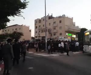 מעצר העריקות: הפגנה בבית שמש; ארבעה מפגינים נעצרו