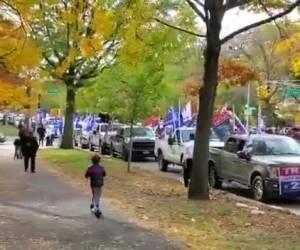 בתהלוכה בניו יורק: תומכיו היהודים של הנשיא טראמפ הותקפו