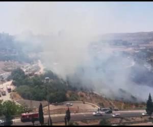 השריפות חוזרות?: חשש מזליגת השריפה בליפתא לכיוון ירושלים • צפו בתיעוד