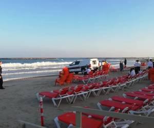 """אסונות בין הזמנים: חיפושים ודאגה בחוף בת""""א: אברך נסחף למערבולת ונעלם"""