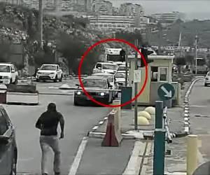 מעבר חשמונאים: הגנב נעצר עם הרכב הגנוב במחסום. צפו