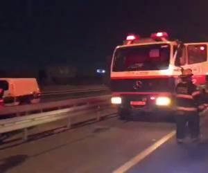 תאונה קטלנית: כביש 6: שני הרוגים בתאונה בין מכונית למשאית