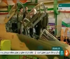 """ה""""כוסר"""": איראן הציגה את מטוס הקרב החדש שלה"""