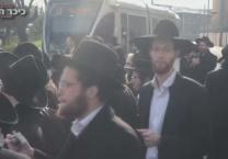 שוב חוזרות ההפגנות • צפו מפגיני הפלג שיבשו את התנועה בירושלים; 20 נעצרו
