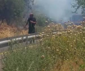כבישים נסגרו: כבאים ומטוסים: שריפה סמוך למבשרת ציון