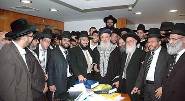 """הרבנים המוסמכים עם הגר""""ש עמאר"""