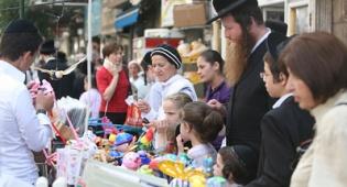 כיכר השבת, ערב סוכות (צילום: מאיר אלפסי)