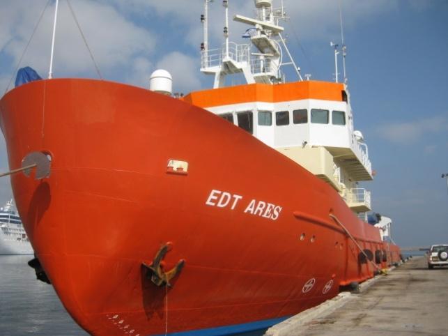 ספינת המחקר שהחלה בעבודתה