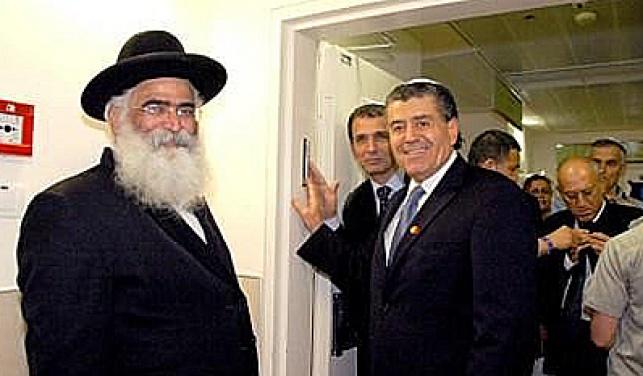 סבן יחד עם הרב אברג'ל