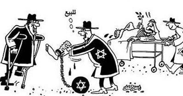 אחת הקריקטורות האנטישמיות