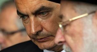"""ראש ממשלת ספרד והגרי""""מ לאו. צילום: פלאש 90 - ראש ממשלת ספרד לרב לאו: התרגשתי"""