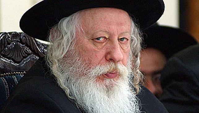 """כ""""ק האדמו""""ר מגור. צילום: ישראל ברדוגו"""