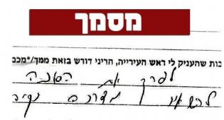 צילום המסמך שהגיע לידי ´כיכר השבת´ - העירייה דרשה: 5 שעות לפירוק סוכה